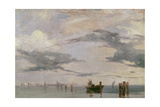 View of the Lagoon Near Venice, 1826 Giclee Print by Richard Parkes Bonington