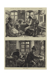 Sketches of Musical Instrument Makers at Mittenwald, Germany Giclee Print by Hubert von Herkomer