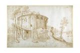 The Temple of Vesta in the Forum Boarium Giclée-Druck von Sebastian Vrancx