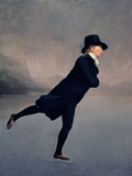 The Reverend Robert Walker Skating on Duddingston Loch, 1795 Giclée-tryk af Sir Henry Raeburn