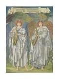 Angeli Laudantes Reproduction procédé giclée par Edward Burne-Jones