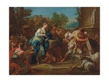 Jacob and Rachel at the Well Giclée-tryk af Sebastiano Conca