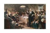 The Intervention of Vladimir Lenin (1870-1924) at the 2nd Congress of the R.S.D.R.P. in 1903 Giclée-Druck von Sergei Arsenevich Vinogradov
