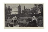 The Vale of Rest Giclée-tryk af John Everett Millais
