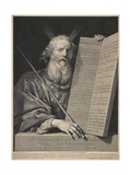 Moses Presenting the Ten Commandments, 1699 Giclee Print by Robert Nanteuil