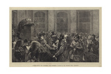 Divine Service for Shepherds and Herdsmen, a Study at the Berners Hall, Islington Giclee Print by Hubert von Herkomer