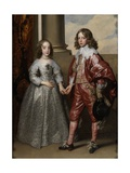 William Ii, Prince of Orange, and His Bride, Mary Stuart, 1641 Giclée-Druck von Sir Anthony Van Dyck