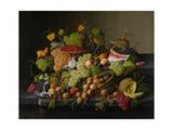 Abundant Fruit, 1858 Lámina giclée por Roesen, Severin