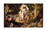 The Reconciliation of Oberon and Titania, 1847 Giclée-tryk af Sir Joseph Noel Paton