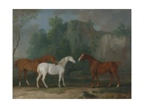 Three Hunters in a Rocky Landscape, 1775 Giclee Print by Sawrey Gilpin