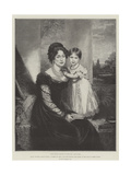 Hrh Victoria Maria Louisa, Duchess of Kent, and Her Majesty the Queen at the Age of Three Years Giclee Print by Sir William Beechey