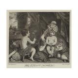 The Infant Academy Giclee-trykk av Sir Joshua Reynolds