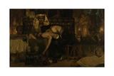 The Death of the Pharaohs Firstborn Son, 1872 Gicléedruk van Sir Lawrence Alma-Tadema