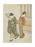 Clearing Breeze from a Fan, after 1766 Giclee Print by Suzuki Harunobu