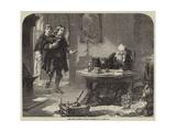 John Milton Visiting Galileo Giclee Print by Solomon Alexander Hart