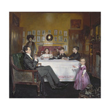 A Bloomsbury Family, 1907 Gicléetryck av Sir William Orpen