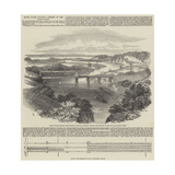 South Wales Railway, Opening of the Chepstow Bridge Giclee-trykk av Samuel Read