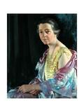 Mrs Thomas Howarth, 1926 Gicléetryck av Sir William Orpen