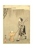 Semitori Giclee Print by Suzuki Harunobu