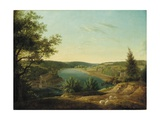 View of the Chain Bridge and Falls of the Schuylkill, Five Miles from Philadelphia Giclee Print by Thomas Birch