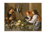 Game and Vegetable Sellers Giclee Print by Theodor Rombouts
