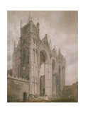 West Front of Peterborough Cathedral, 1794 (Watercolour over Indications in Graphite) Giclee Print by Thomas Girtin