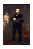 Portrait of James Carroll Beckwith, 1904 Giclee-trykk av Thomas Cowperthwait Eakins