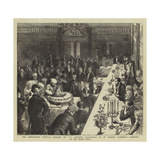 The Anniversary Festival Banquet of Ye Antiente Fraternitie of Ye Rahere Almoners Giclee Print by Sydney Prior Hall