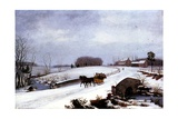 Sleigh in Winter, 1832 Giclee Print by Thomas Birch