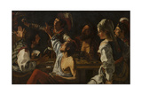 Card and Backgammon Players. Fight over Cards, C. 1620-30 Giclee Print by Theodor Rombouts