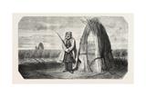A Turkish Sentinel, Watercolor, 1855 Giclée-Druck von Theodore Valerio