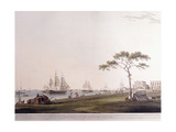 View Taken on the Esplanade, Calcutta, 1797 Lámina giclée por Thomas Daniell