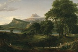 The Course of Empire: the Arcadian or Pastoral State, C.1836 Giclée-tryk af Thomas Cole