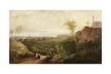 The Old Leith Walk, Edinburgh, C.1840-45 Giclee Print by Thomas Miles Richardson