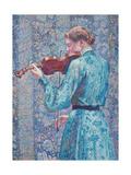 Marie-Anne Weber Playing the Violin, 1903 Gicléetryck av Theo van Rysselberghe