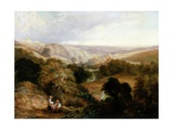 Evening View on Heaton Dene, Lancashire, from an Eminence Near Mable's Mill, 1831 Giclee Print by Thomas Miles Richardson