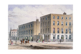 View of Soho Square and the Catholic Chapel, 1850 Giclee Print by Thomas Hosmer Shepherd