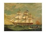 Ship Houqua, 1841 Giclee Print by Thomas Birch