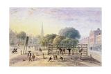 View of Islington Pound, 1850 Giclee Print by Thomas Hosmer Shepherd