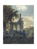 Byland Abbey, Yorkshire, C.1793 (Watercolour Touched with Black Ink over Indications in Graphite) Giclee Print by Thomas Girtin