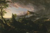 The Course of Empire: the Savage State, 1833-36 Giclée-tryk af Thomas Cole