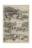 Fishing Sketches on the Dodder, Ireland Giclee Print by Thomas Harrington Wilson