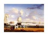 New York Harbour, C.1810 Giclee Print by Thomas Birch