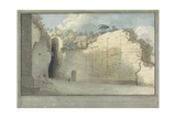 The Grotto at Posillipo, C.1782 Giclée-tryk af Thomas Jones