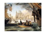 Commodore Perry at the Battle of Lake Erie Giclee Print by Thomas Birch