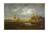 The Pond Near the Road, Farm in Le Berry, C.1845-48 Giclee Print by Theodore Rousseau