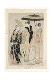 Actors in the Play Oakinai Hiruga Kojima, Nakamura Theater, Xi/1784, 1784 Giclee Print by Torii Kiyonaga