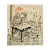 Chinese Princess at an Embroidery Table, 1828 Giclee Print by Toyota Hokkei