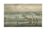 Commencement of the Battle of Trafalgar, 1805 Giclee Print by Thomas Whitcombe