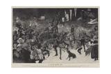 An Old-Time Christmas Revel Reproduction procédé giclée par Thomas Walter Wilson